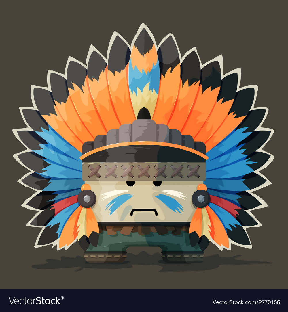 An american indian in the wild west vector | Price: 1 Credit (USD $1)