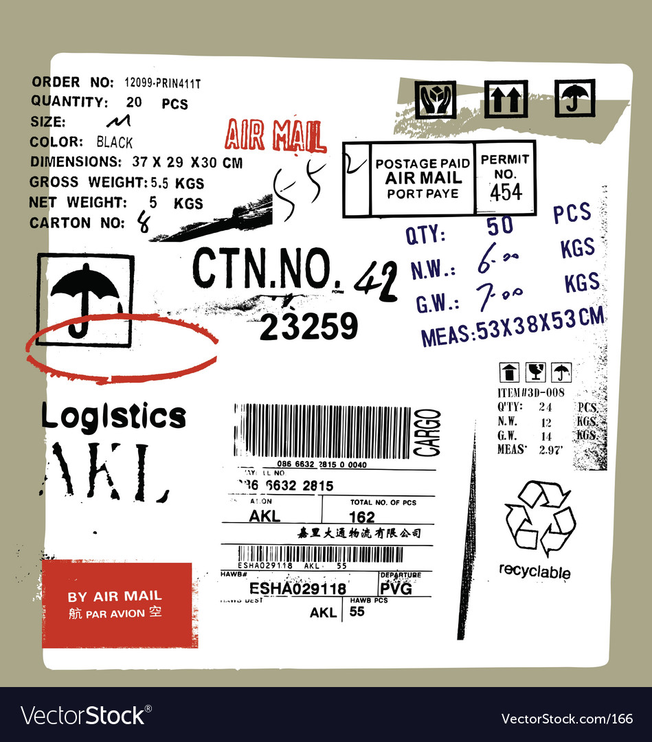 Cargo and freight signs vector | Price: 1 Credit (USD $1)