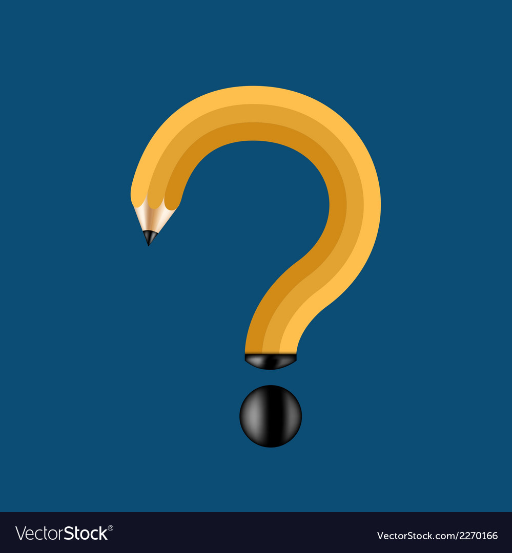 Concept pencil and question mark vector | Price: 1 Credit (USD $1)