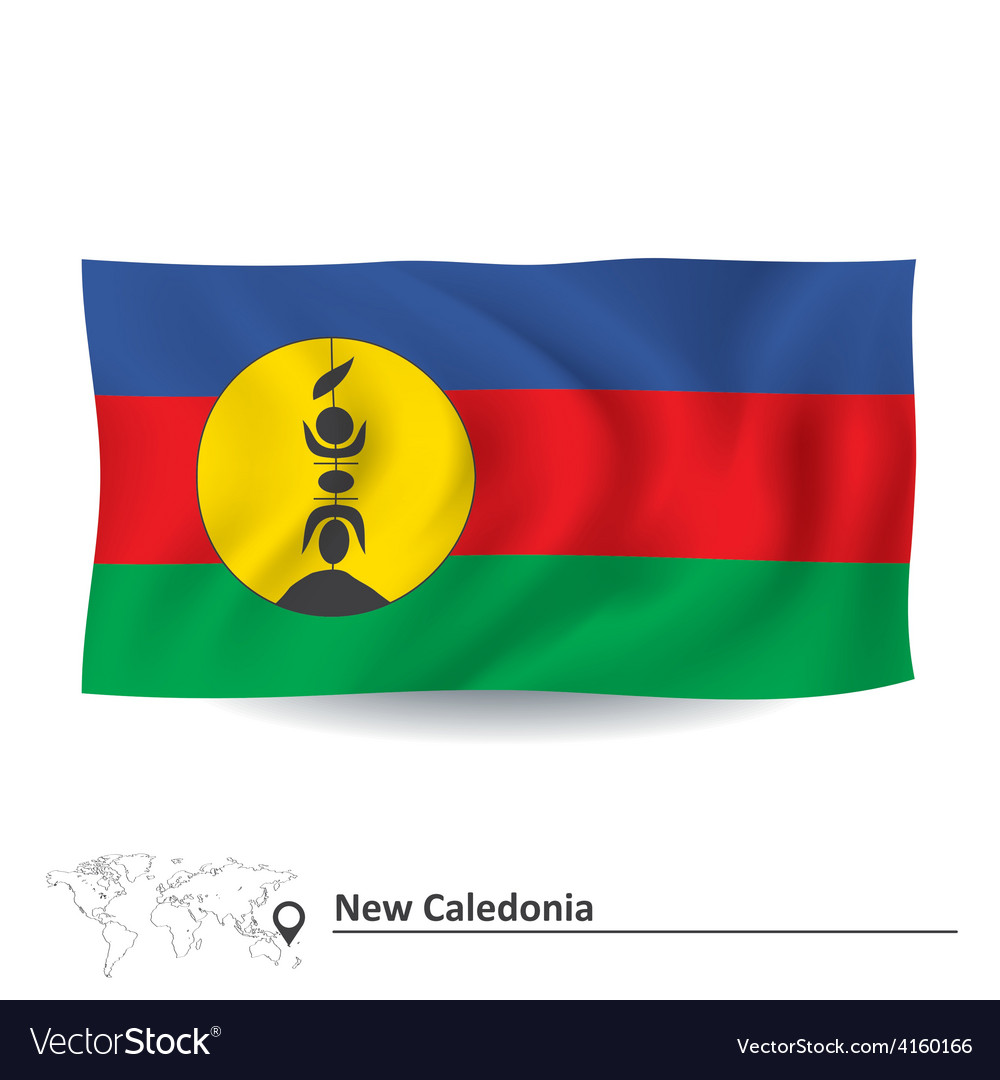 Flag of new caledonia vector | Price: 1 Credit (USD $1)