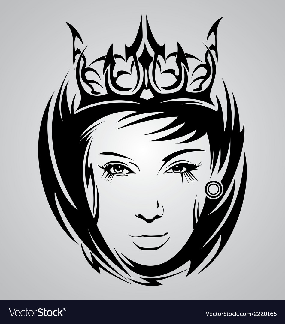Girl face tribal vector | Price: 1 Credit (USD $1)