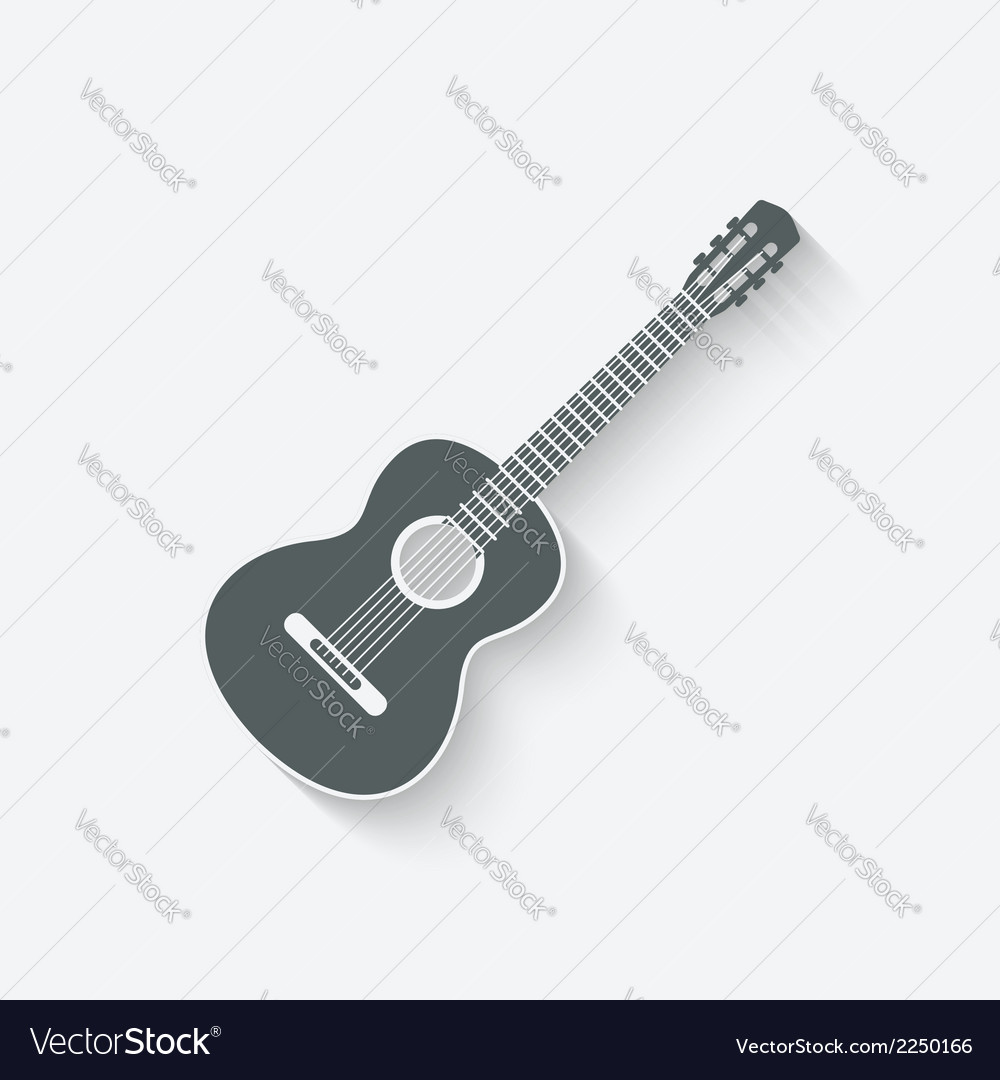 Guitar music icon vector | Price: 1 Credit (USD $1)