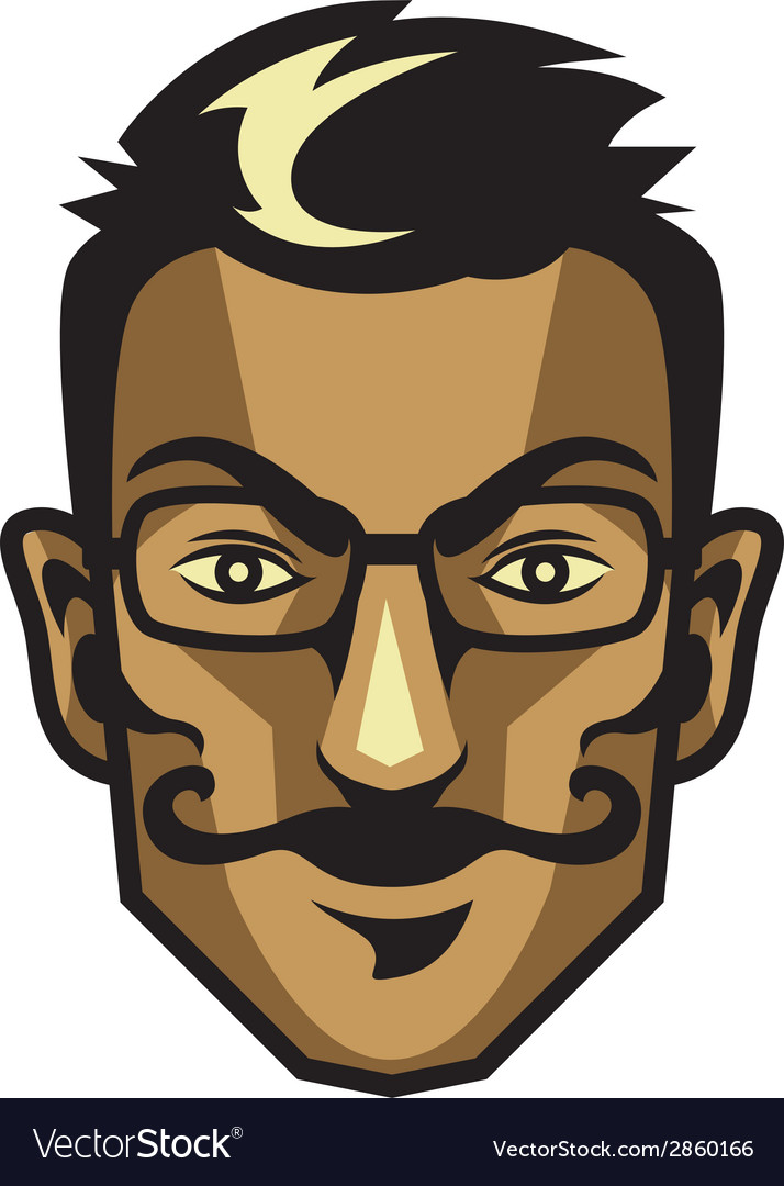 Hipster head vector | Price: 1 Credit (USD $1)