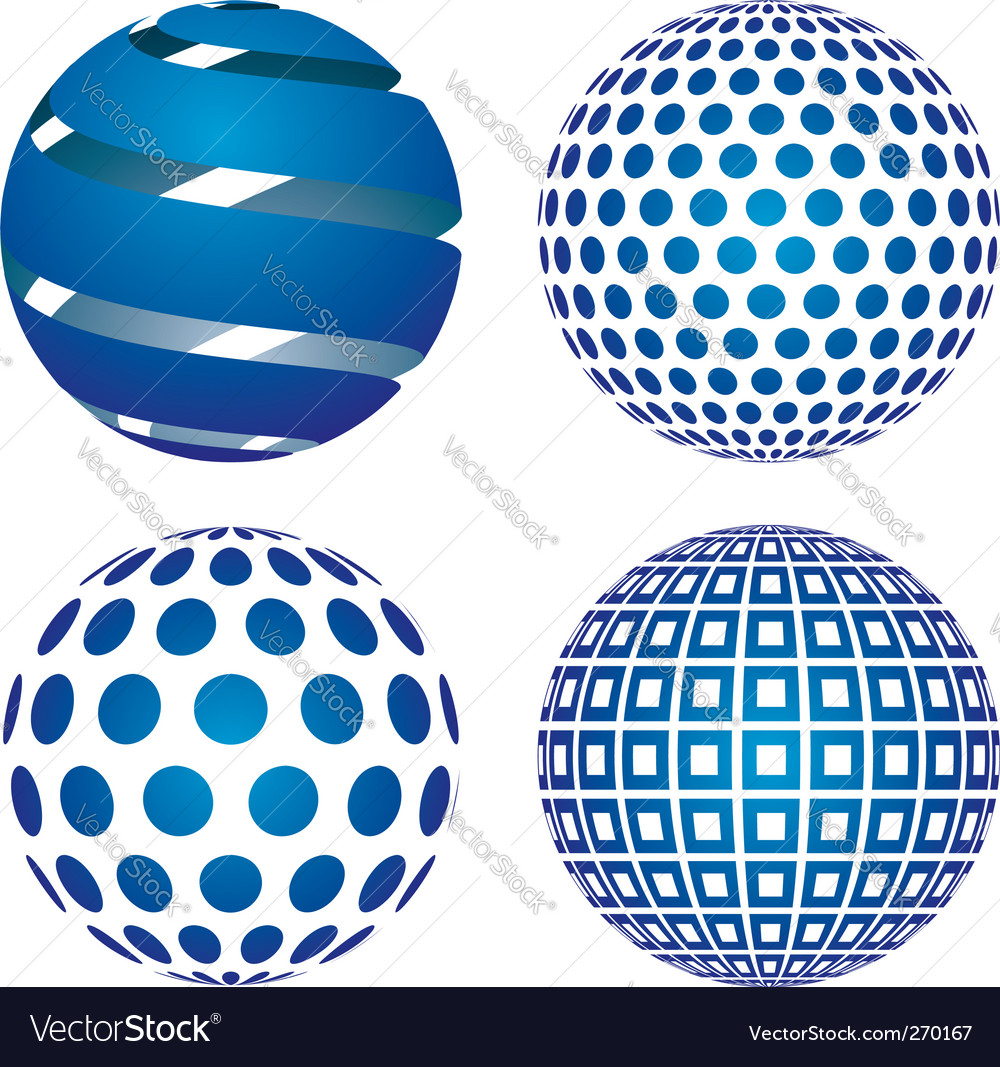 3d globes vector | Price: 1 Credit (USD $1)