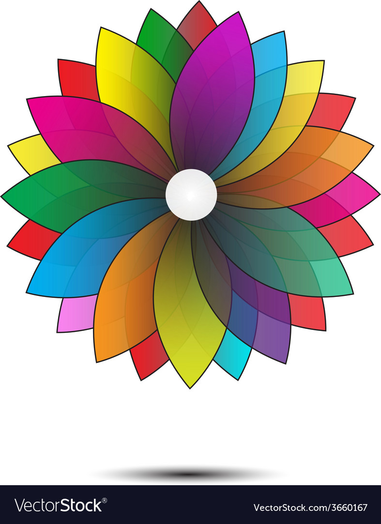 Abstract flower geometrical vector | Price: 1 Credit (USD $1)