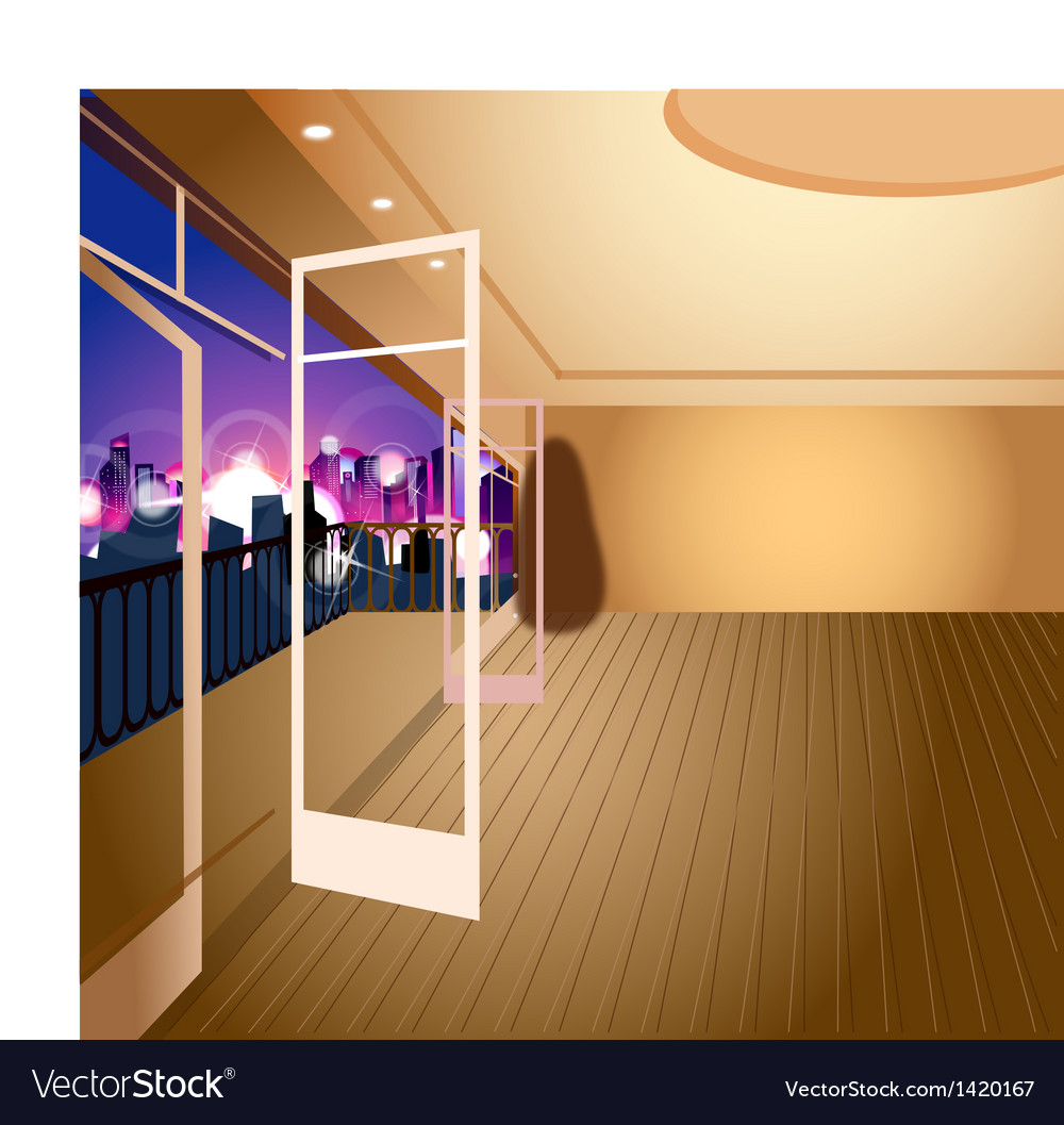 Apartment city view vector | Price: 1 Credit (USD $1)