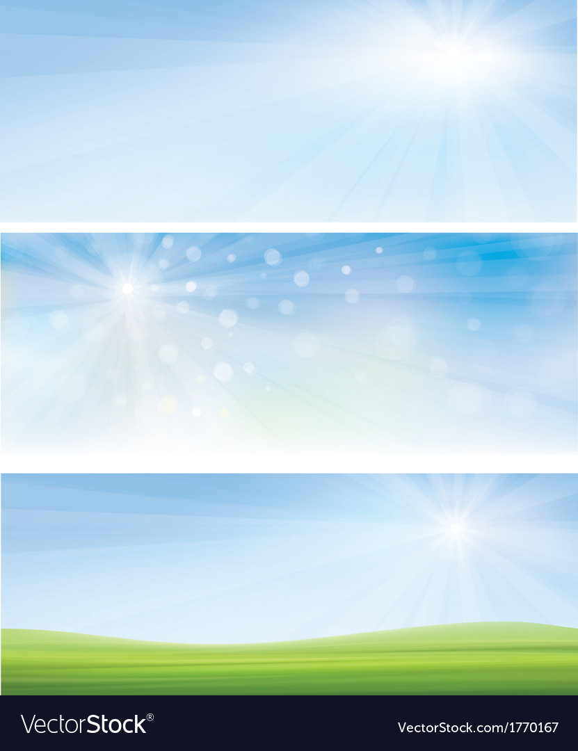 Banner sky grass vector | Price: 1 Credit (USD $1)
