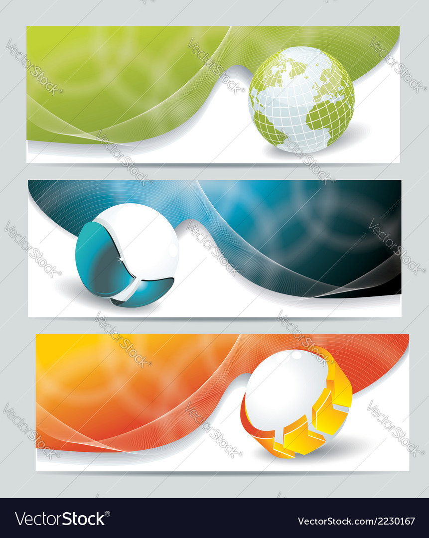 Collection banner design with glass balls and vector | Price: 1 Credit (USD $1)
