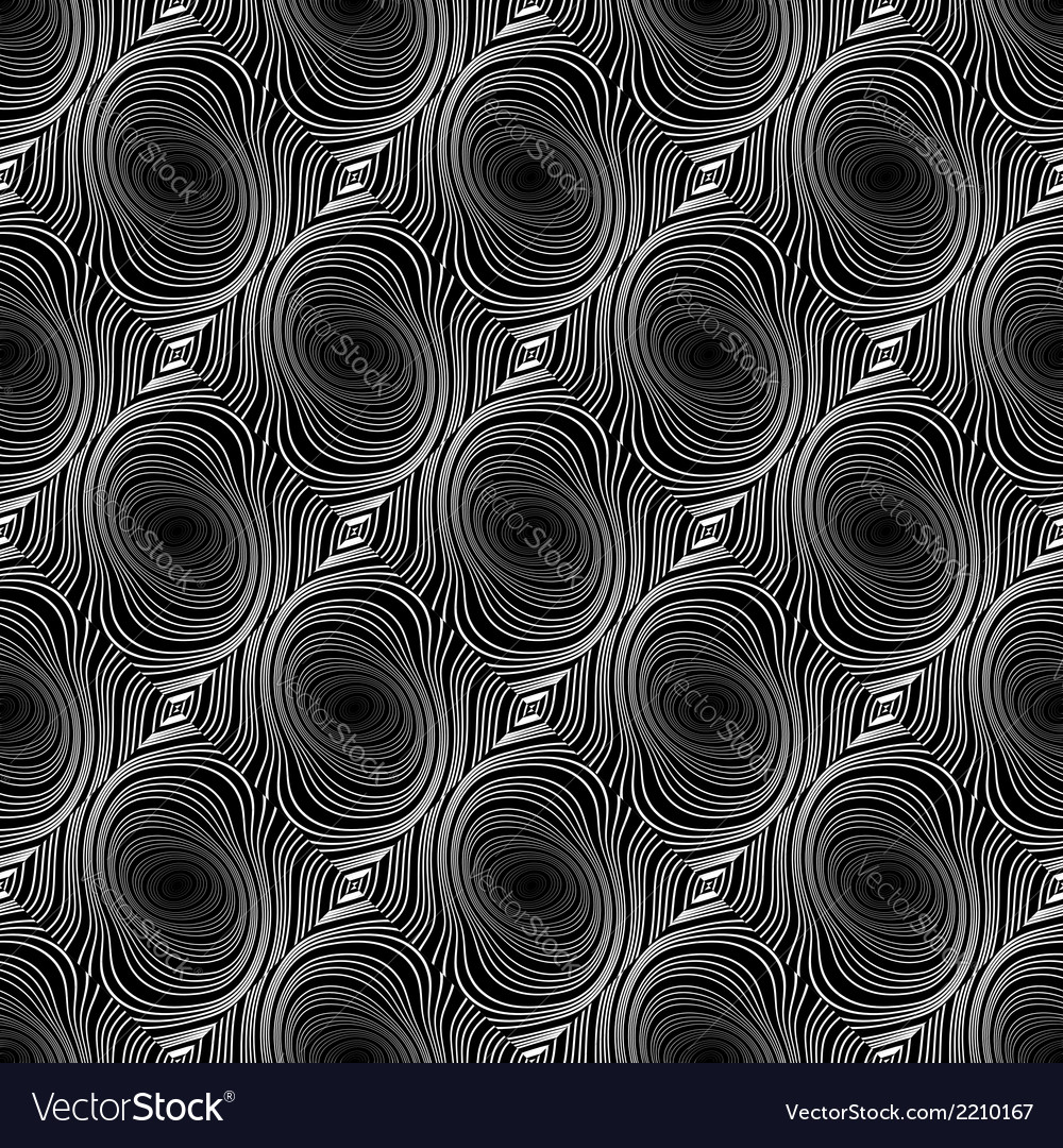 Design seamless whirl ellipse geometric pattern vector | Price: 1 Credit (USD $1)