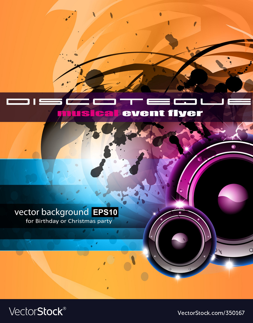 Dj poster vector | Price: 1 Credit (USD $1)
