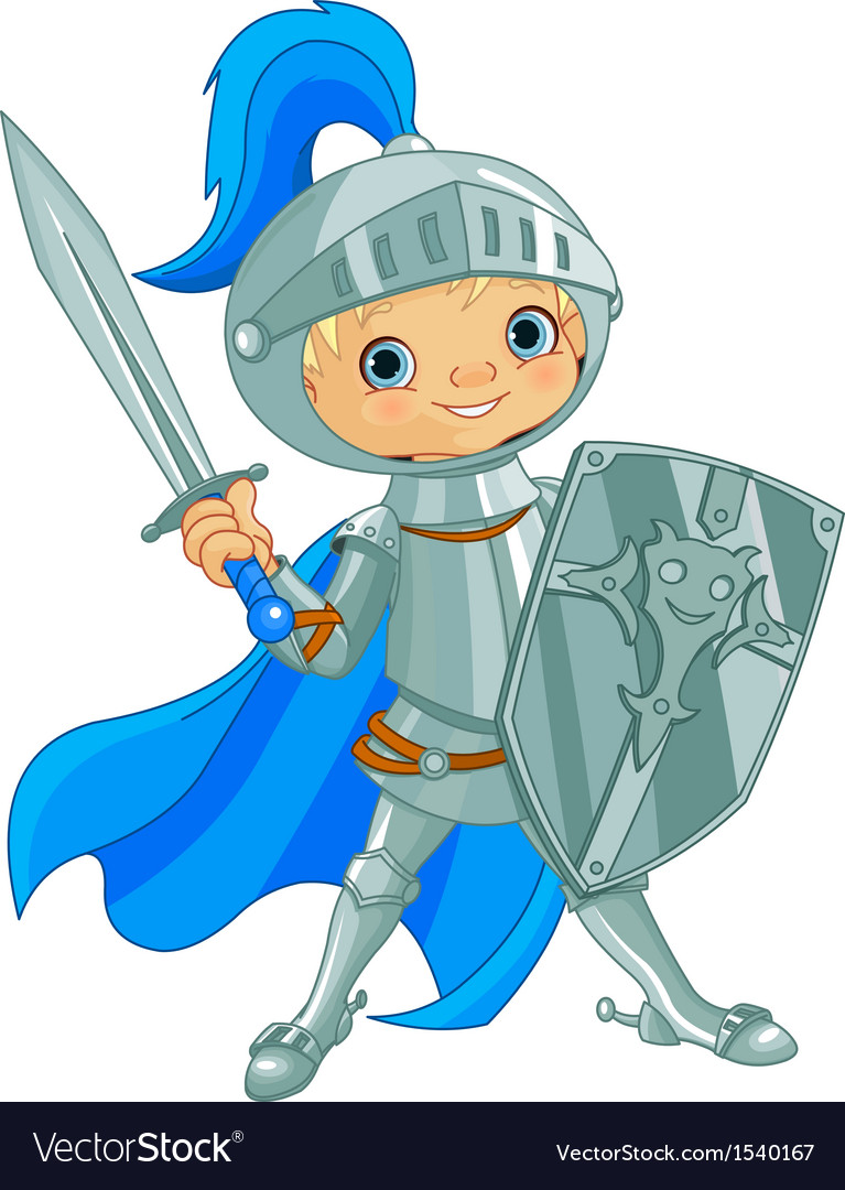 Fighting brave knight vector | Price: 1 Credit (USD $1)