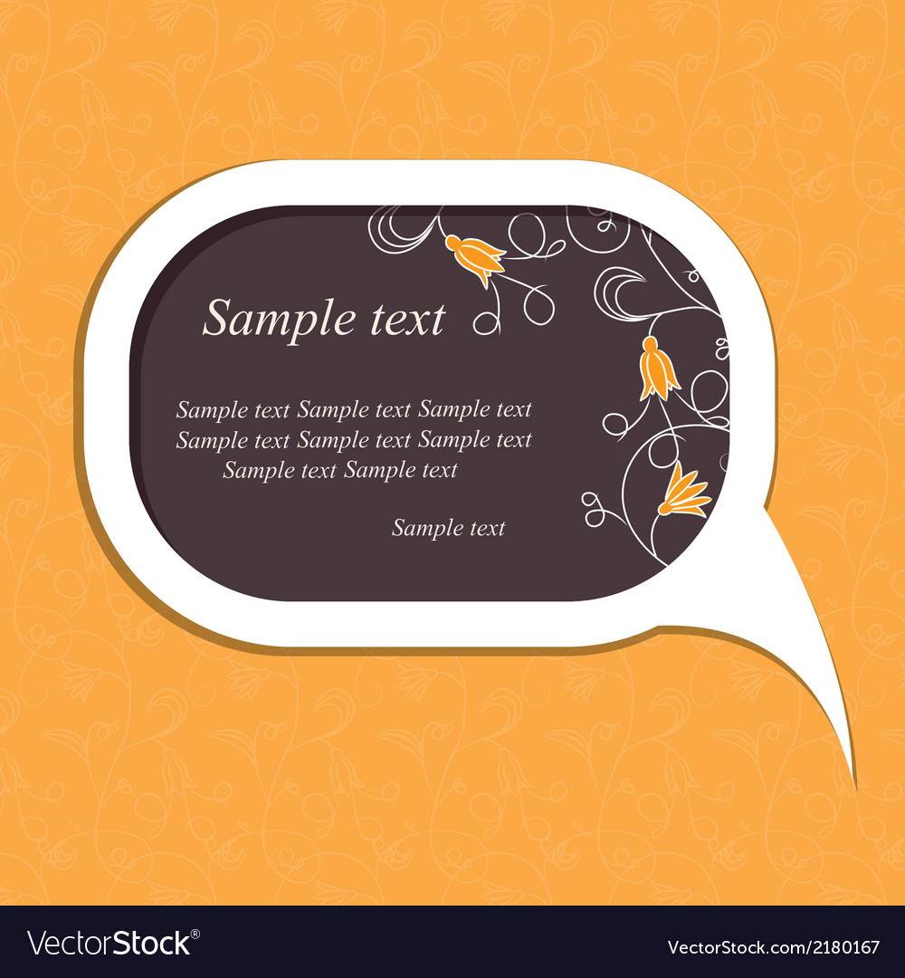 Floral speech bubble vector | Price: 1 Credit (USD $1)