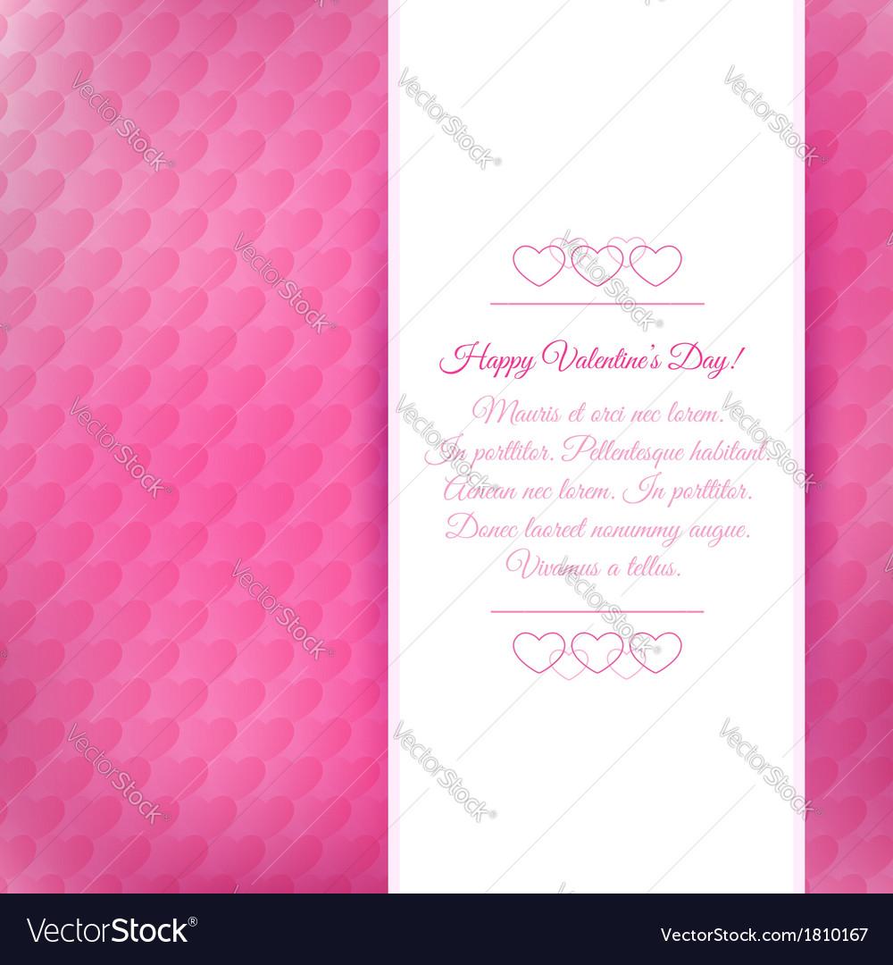 Happy valentines day background vector | Price: 1 Credit (USD $1)