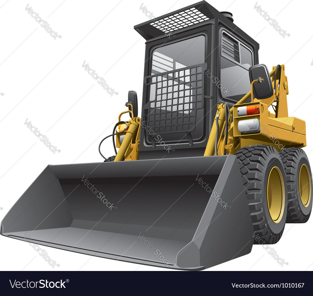 Light brown skid steer loader vector | Price: 5 Credit (USD $5)