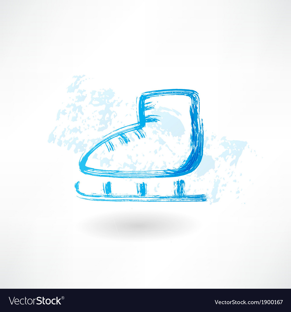 One skate grunge icon vector   Price: 1 Credit (USD $1)