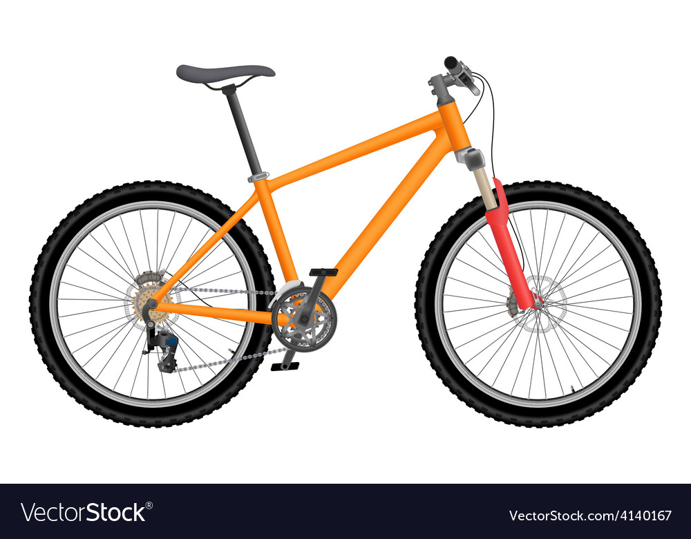 Orange bike vector | Price: 1 Credit (USD $1)