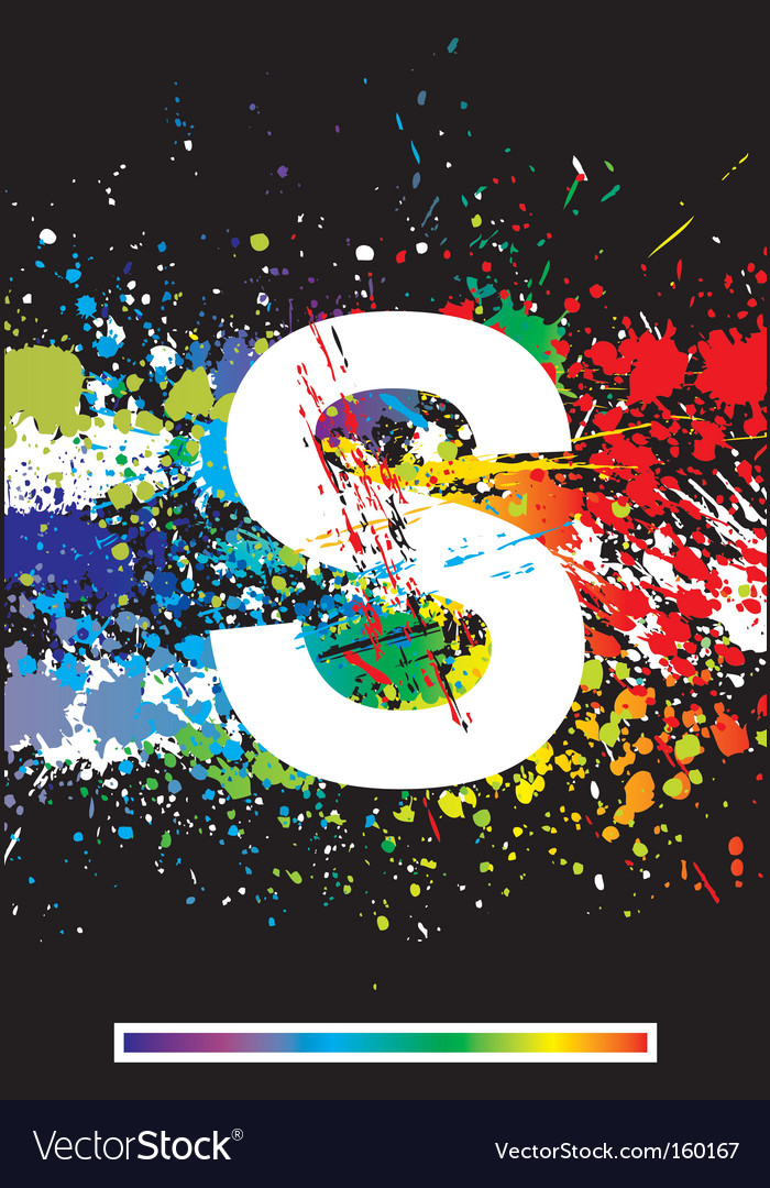 Paint splashes font vector   Price: 1 Credit (USD $1)