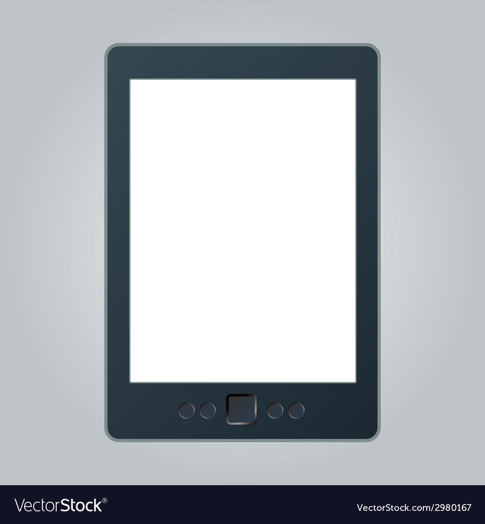 Portable e-book reader with two clipping path for vector | Price: 1 Credit (USD $1)