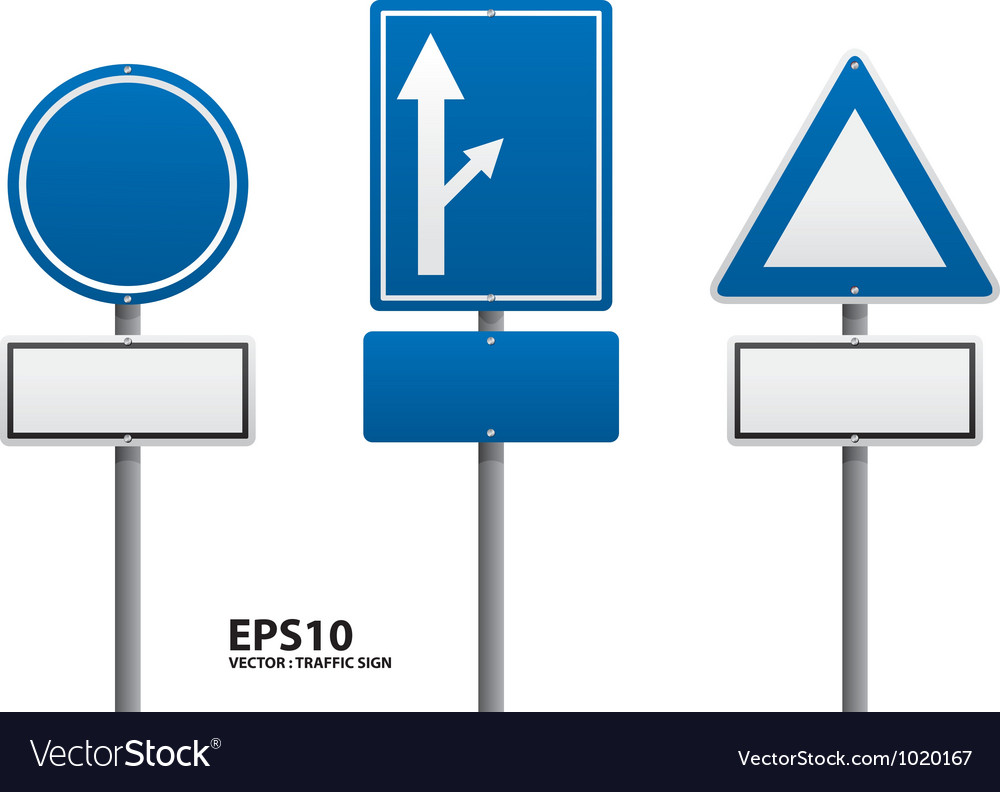 Traffic sign blue color vector | Price: 1 Credit (USD $1)