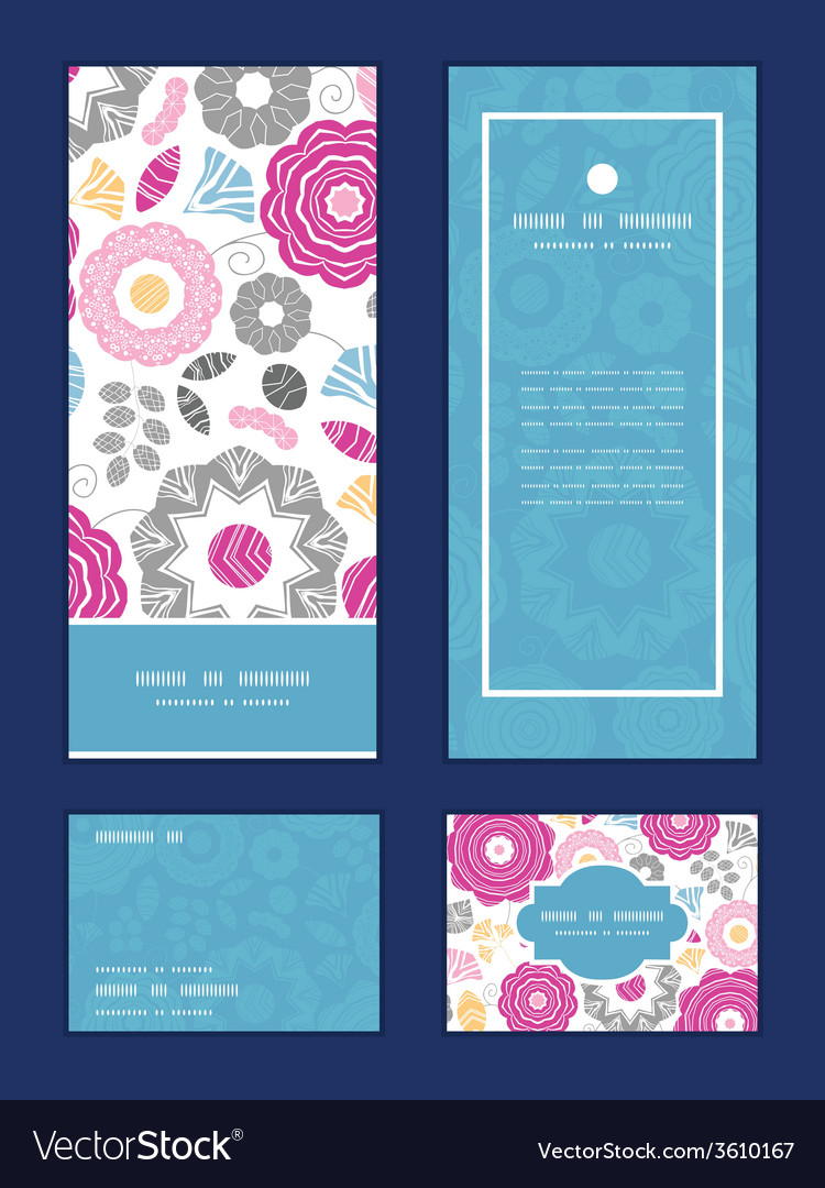 Vibrant floral scaterred vertical frame pattern vector | Price: 1 Credit (USD $1)
