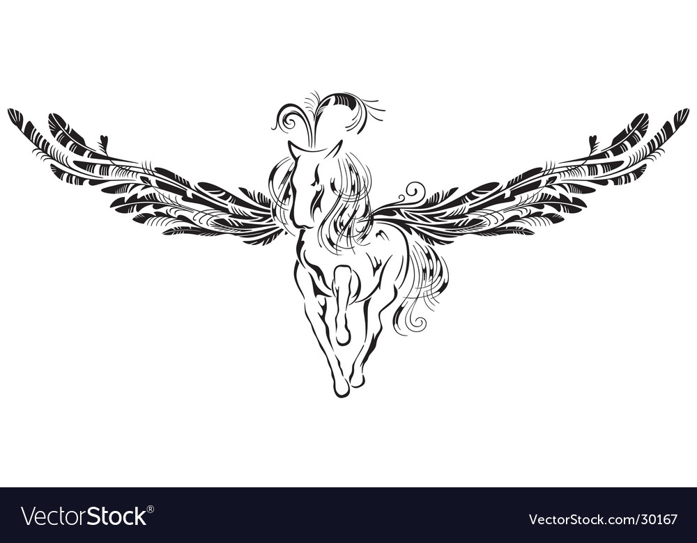Winged horse vector | Price: 1 Credit (USD $1)