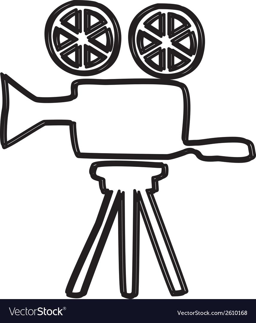 Film gear design vector | Price: 1 Credit (USD $1)