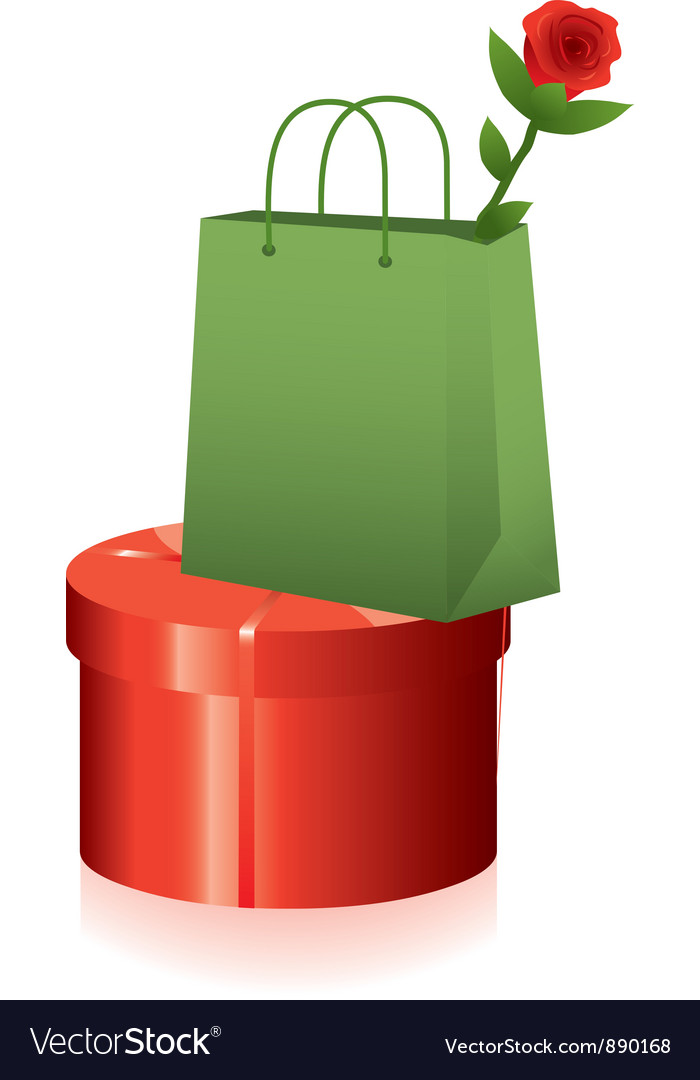 Gift box and shopping bag vector | Price: 1 Credit (USD $1)