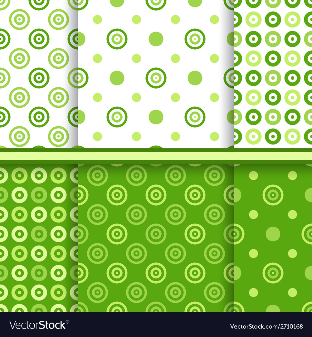 Set of dot seamless patterns vector | Price: 1 Credit (USD $1)