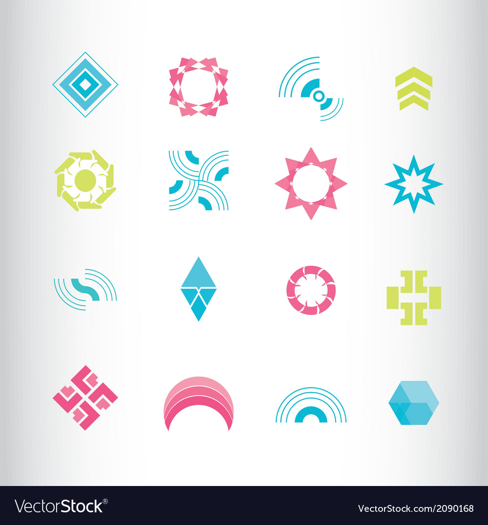 Symbol elements set for web design vector | Price: 1 Credit (USD $1)
