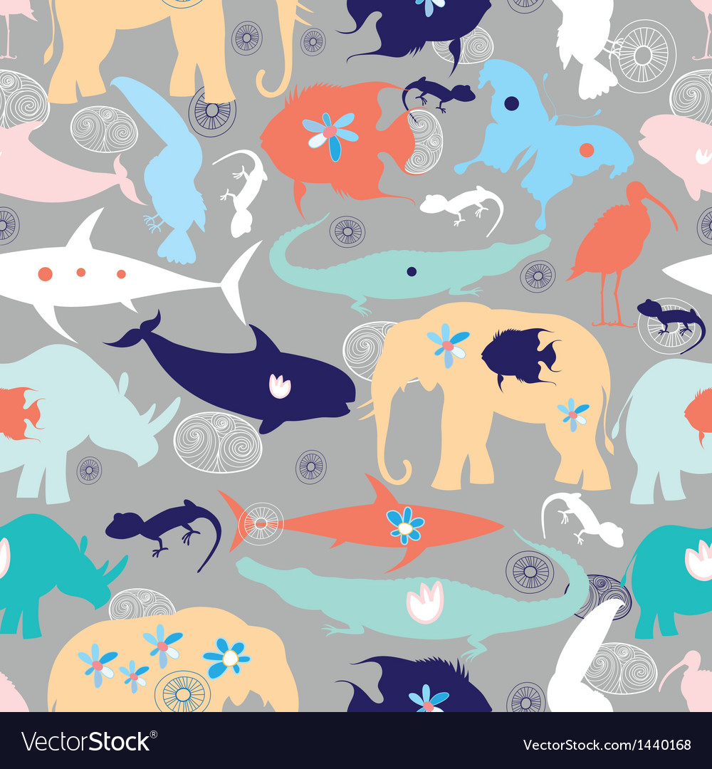 Texture of different wild animals vector | Price: 1 Credit (USD $1)
