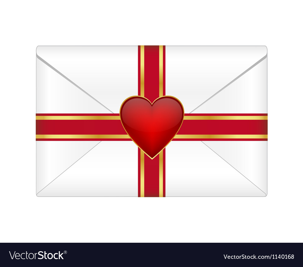 Valentines envelope vector | Price: 1 Credit (USD $1)