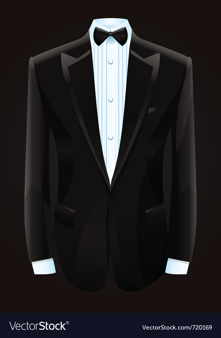 Black tuxedo and bow tie vector | Price: 1 Credit (USD $1)