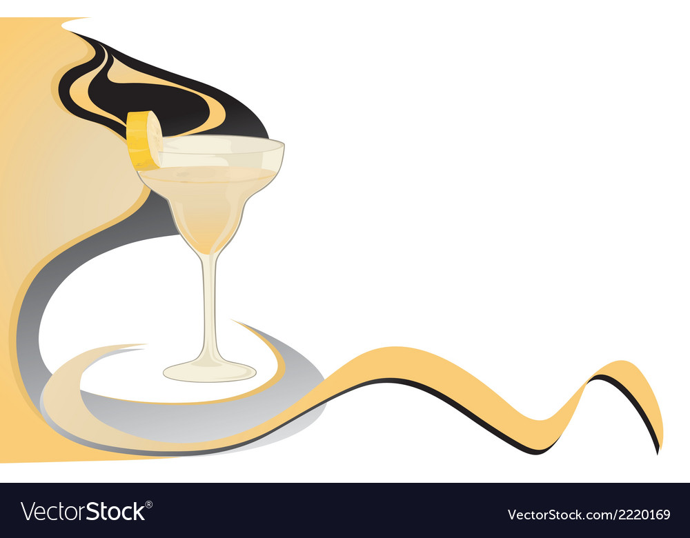 Cocktail banana card vector | Price: 1 Credit (USD $1)