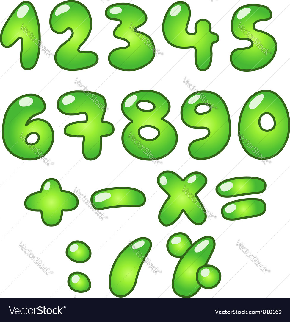 Eco bubble numbers vector | Price: 1 Credit (USD $1)