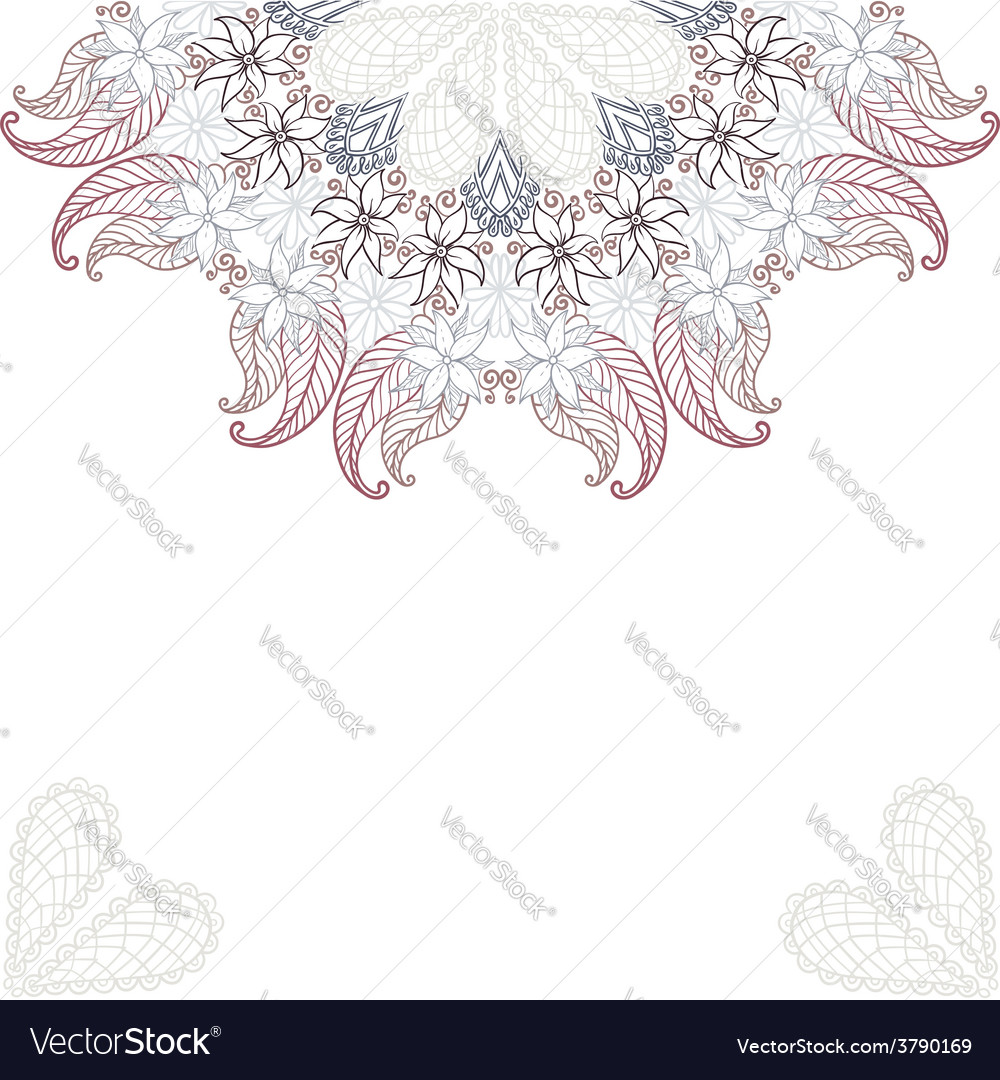 Elegant invitation cards with flowers vector