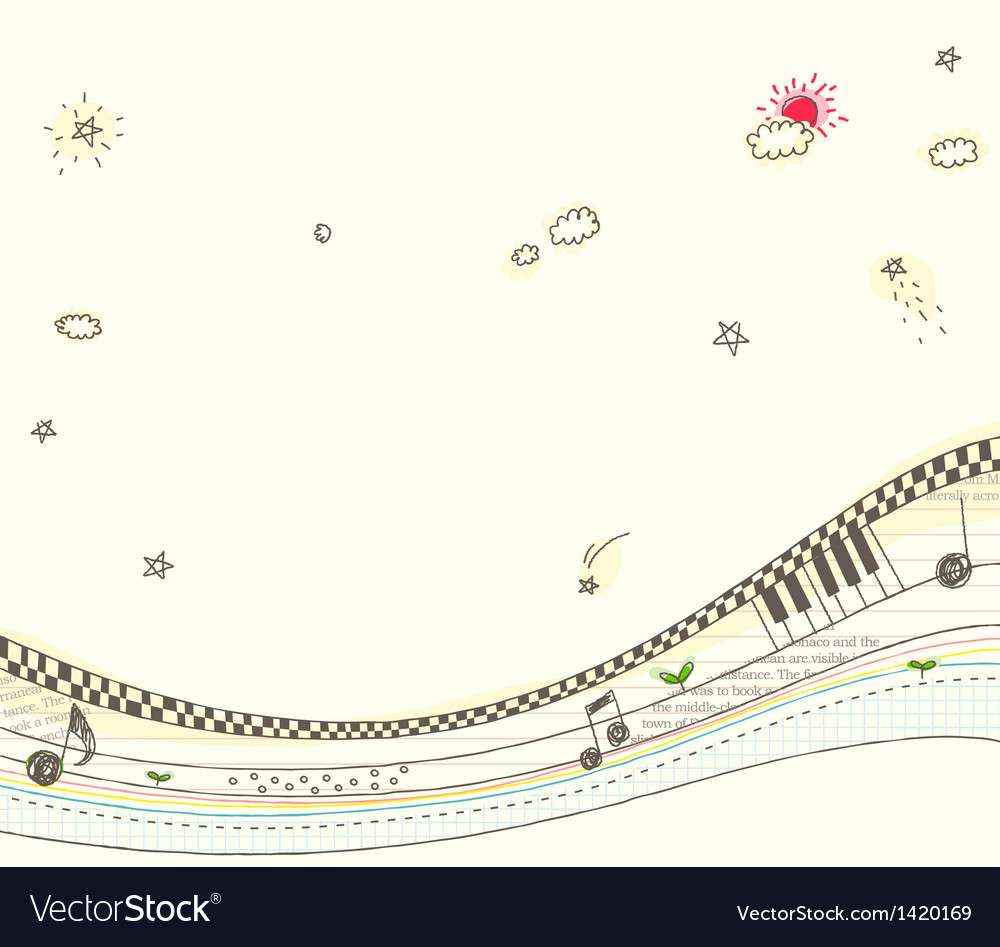 Fantasy music background vector | Price: 1 Credit (USD $1)