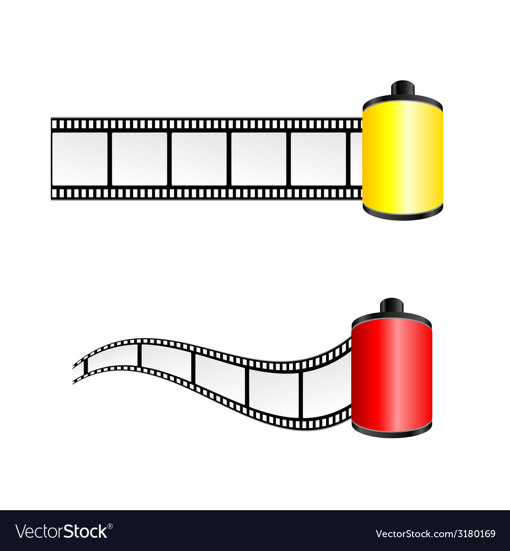 Film tape color vector | Price: 1 Credit (USD $1)