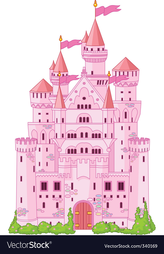 Magic princess castle vector | Price: 3 Credit (USD $3)