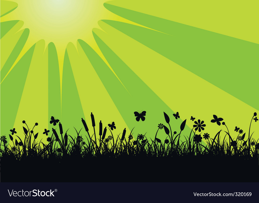 Peaceful landscape vector | Price: 1 Credit (USD $1)