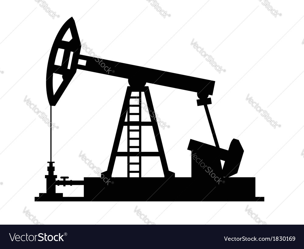 Pump jack icon vector | Price: 1 Credit (USD $1)