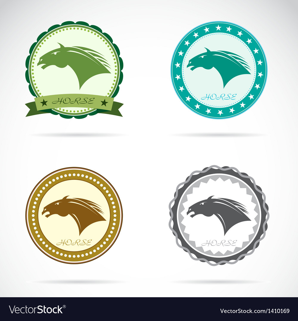 Set of horse label vector | Price: 3 Credit (USD $3)