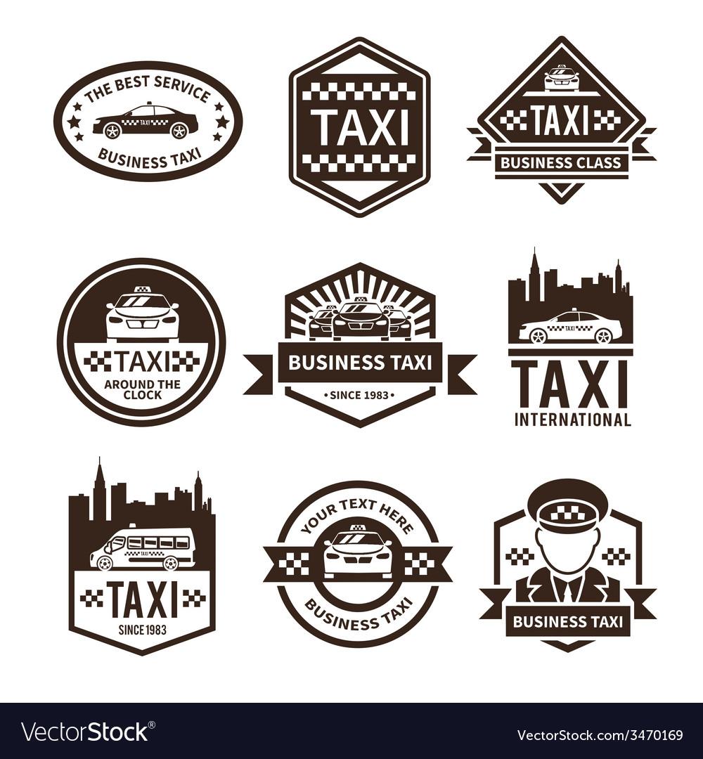 Taxi black label set vector | Price: 1 Credit (USD $1)