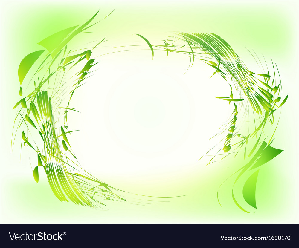 Abstract green grunge frame vector | Price: 1 Credit (USD $1)