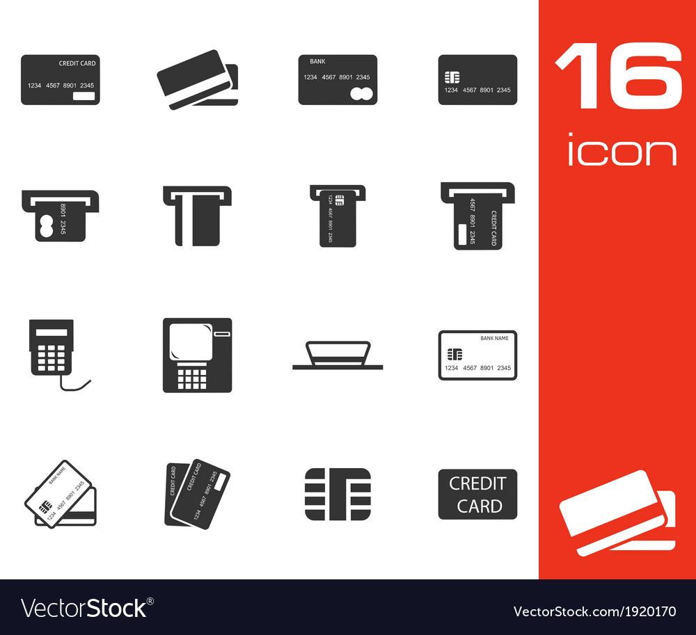Black credit cart icons set vector | Price: 1 Credit (USD $1)