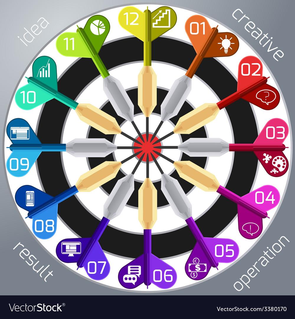 Business target marketing dart idea creative vector | Price: 1 Credit (USD $1)