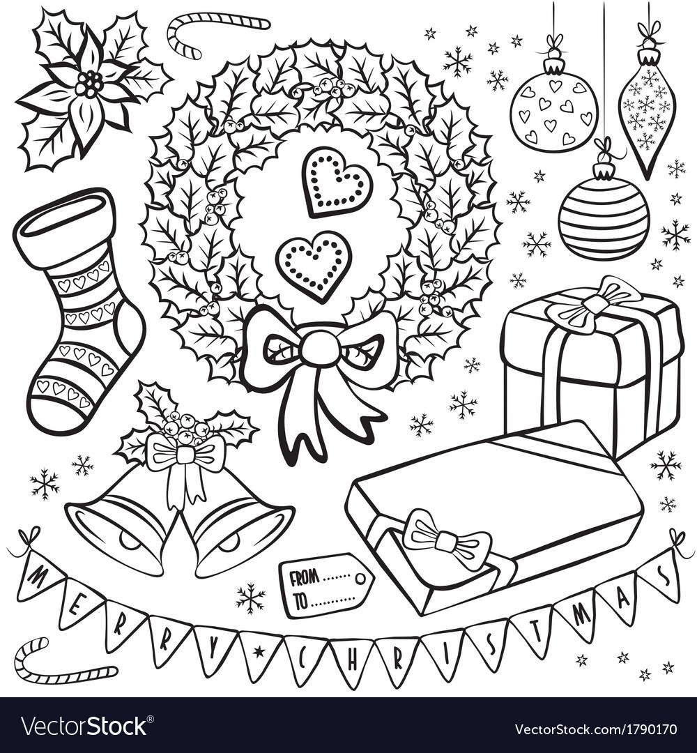 Christmas present tag design vector | Price: 1 Credit (USD $1)