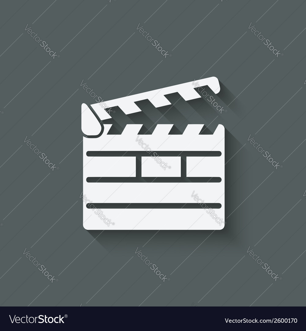 Clapper board design element vector | Price: 1 Credit (USD $1)