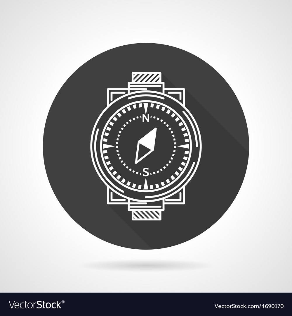 Compass black round icon vector | Price: 1 Credit (USD $1)