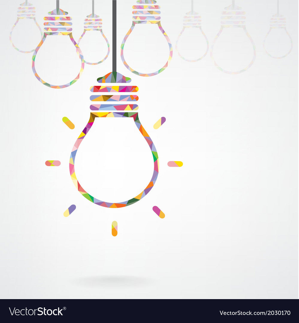 Creative light bulb idea concept background design vector | Price: 1 Credit (USD $1)