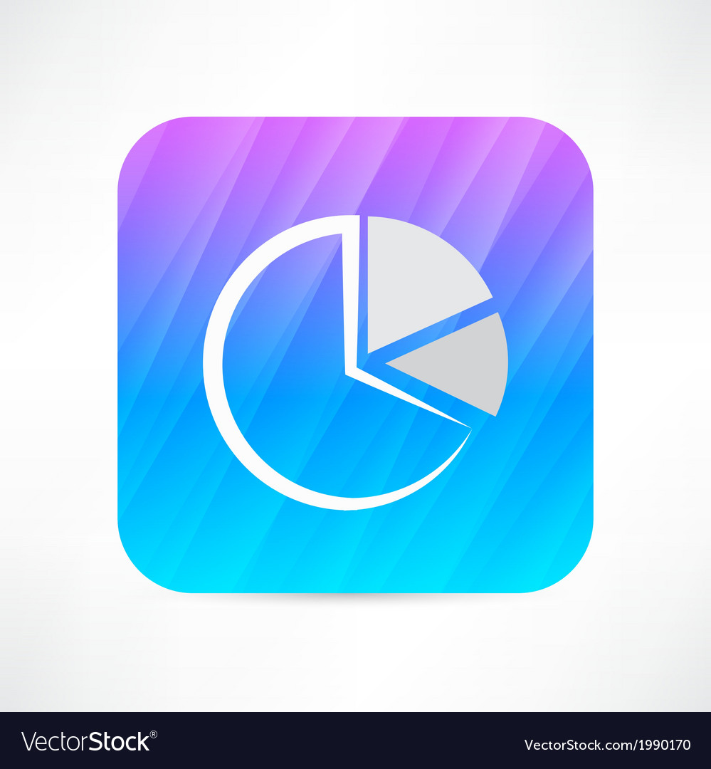 Diagram pie icon vector | Price: 1 Credit (USD $1)